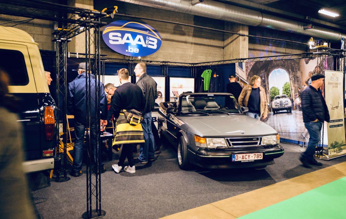 Saab Club Belgium op Antwerp Classic Salon 2019