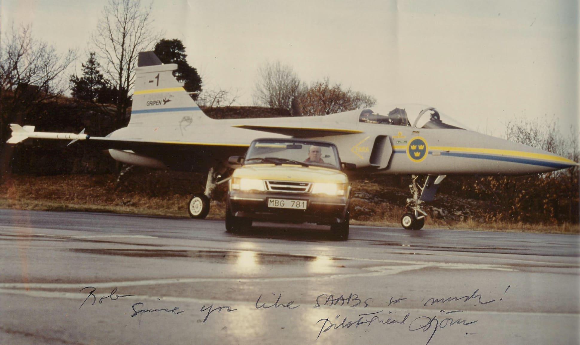 Rob Koch, Saab chief designer in Saab 900 met Viggen